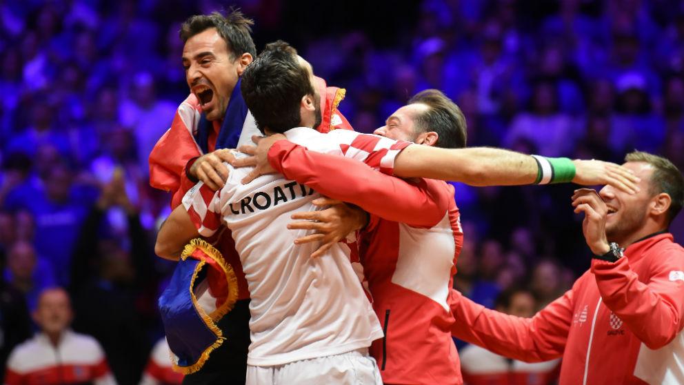 Croacia gana la Copa Davis a Francia. (AFP)