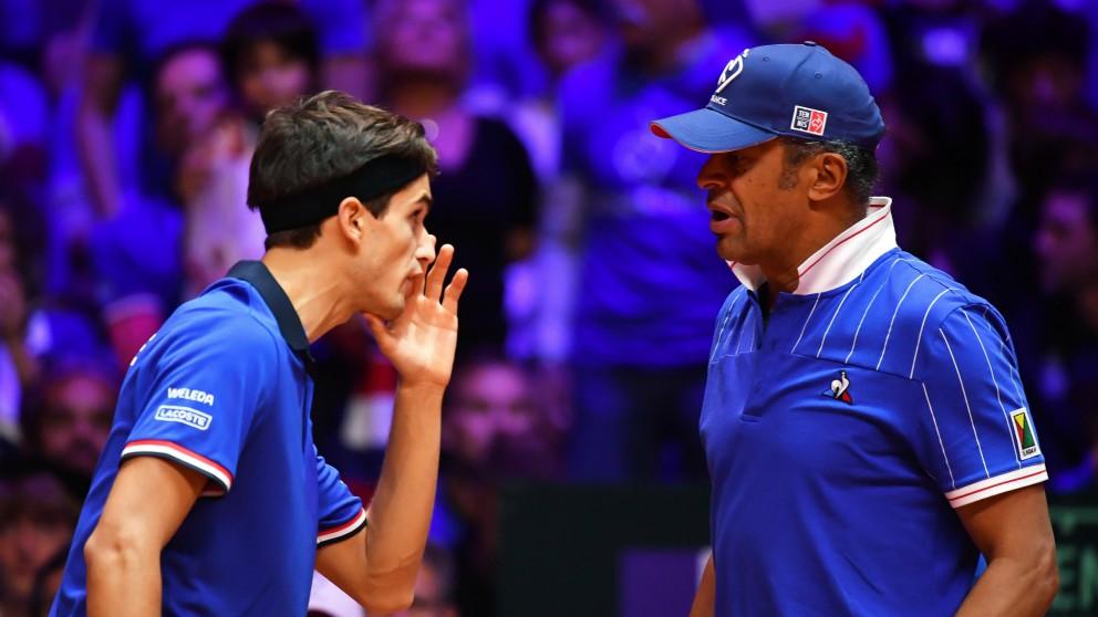 Herbert y Noah, en la final de la Copa Davis. (AFP)