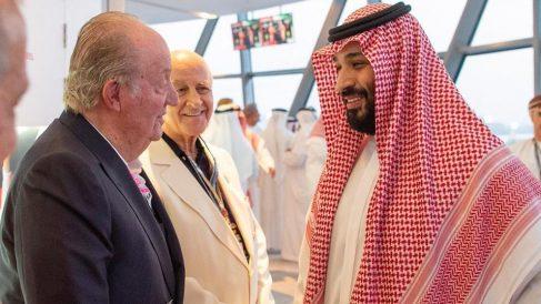 Juan Carlos I y Mohamed bin Salmán