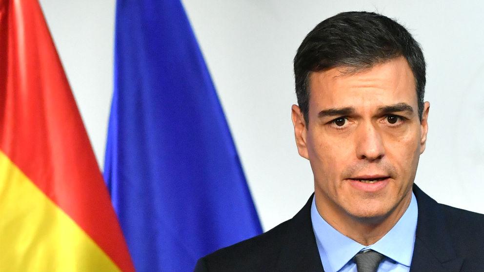 Pedro Sánchez, en una comparecencia en Bruselas.