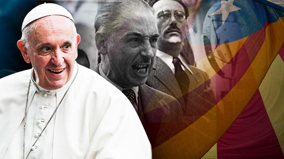 El Papa Francisco y el ex presidente de la Generalitat Lluís Companys.