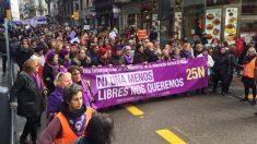 Manifestación contra violencia machista en Madrid. (Foto: Enrique Falcón).
