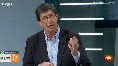 Juan Marín durante el debate