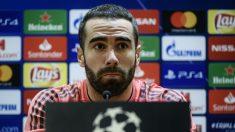 Dani Carvajal, en rueda de prensa. (AFP)