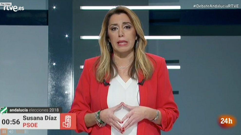 Susana Díaz durante el debate