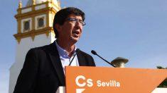 El candidato de C's Juan Marín en campaña electoral. (Foto. Ciudadanos)