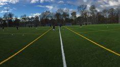 Imagen de la escuela de fútbol de Soxna y Evergrande en Madrid.