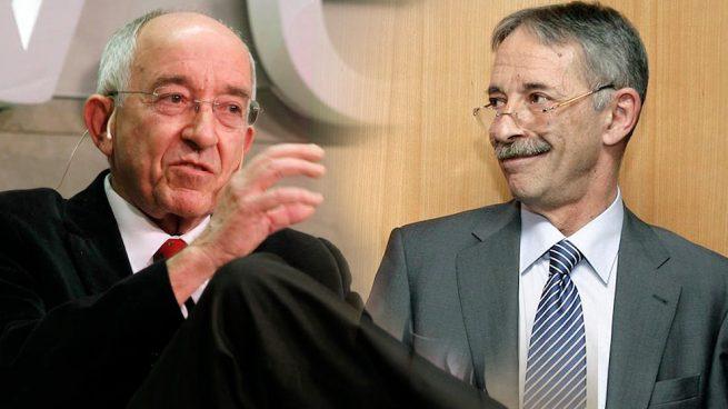 El ex gobernador del Banco de España, Miguel Ángel Fernández Ordóñez y el ex presidente de CNMV, Julio Segura