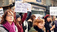 Manifestación contra la «violencia de género». (Foto: Enrique Falcón)