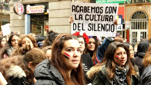 Marcha del Día Internacional contra la Violencia de Género en Madrid. (F: Enrique Falcón)