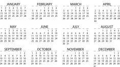 El nombre de los meses en el calendario