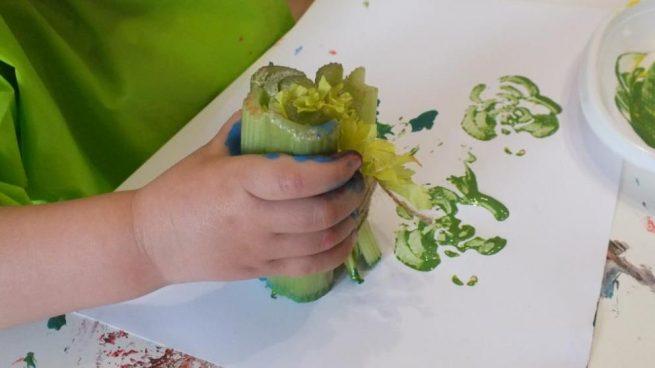 Cómo Pintar Con Frutas Y Verduras De Forma Original Y Divertida