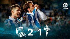 La Real Sociedad gana al Celta. (EFE)