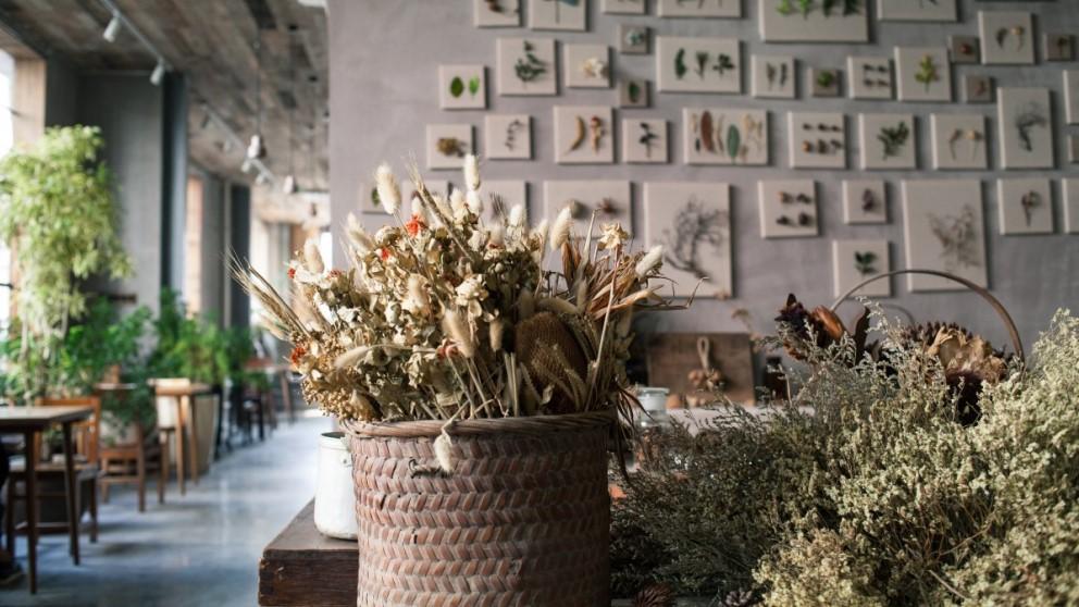 Las flores secas son ideales para decorar el hogar