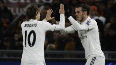 Bale celebra un gol con Modric. (AFP)