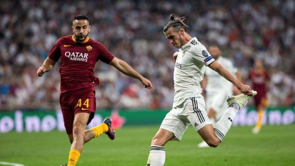 Bale y Manolas, en el enfrentamiento de la pasada temporada.