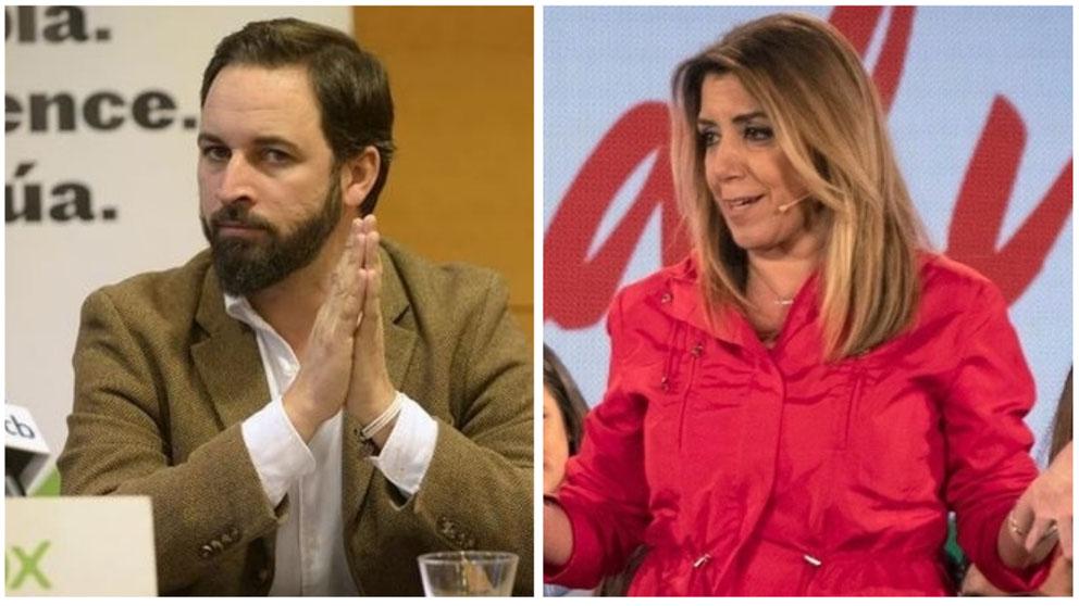Santiago Abascal y Susana Díaz.