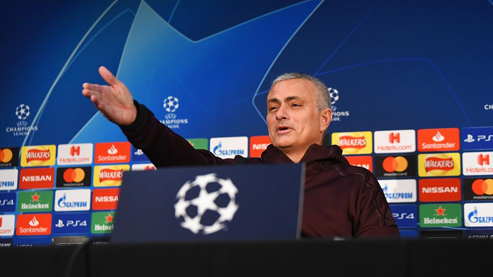 José Mourinho, durante una rueda de prensa con el Manchester United. (Getty)