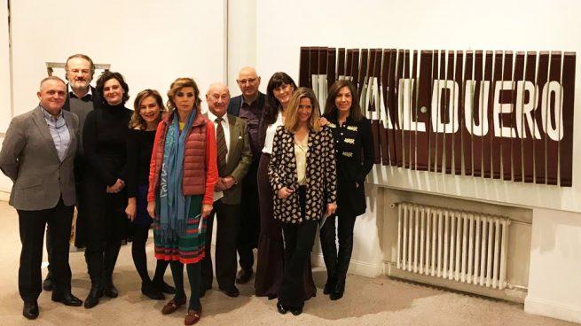 Los miembros del jurado del IV certamen 'Valduero con las Bellas Artes'.