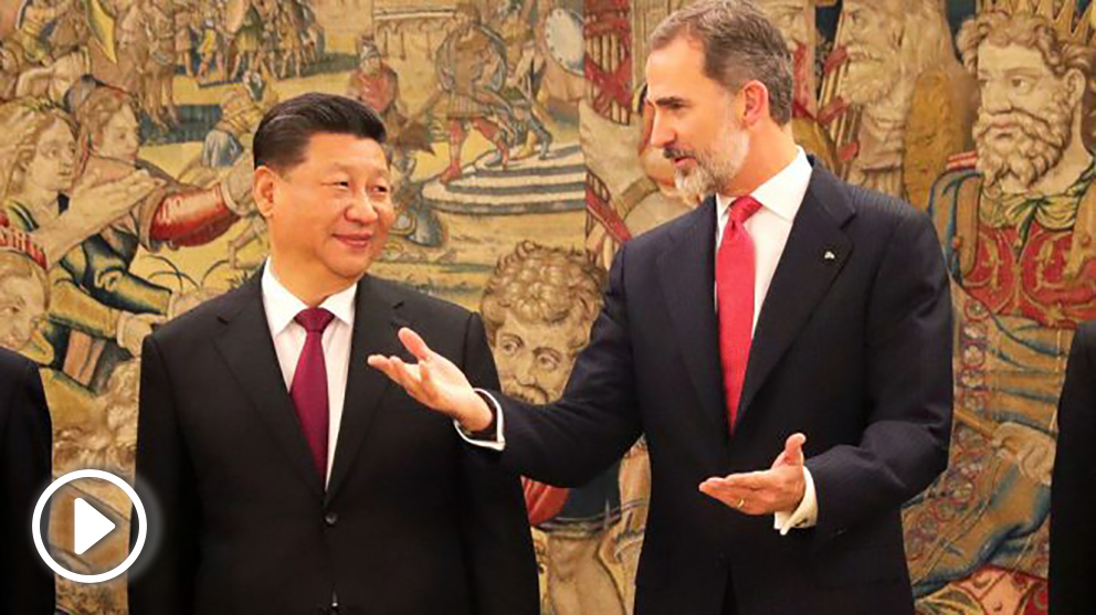 Xi Jinping y Felipe VI (Foto: EFE)