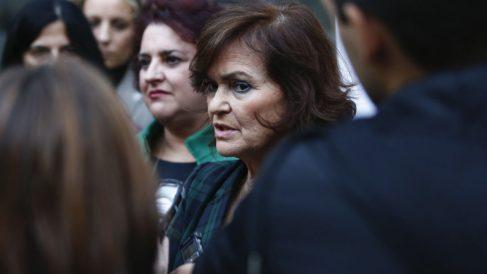 La vicepresidenta Carmen Calvo este martes (EP).
