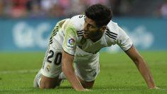 Marco Asensio, en un partido con el Real Madrid. (AFP)