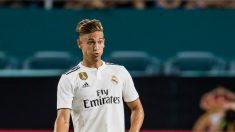 Marcos Llorente, en un partido con el Real Madrid. (AFP)
