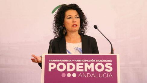 La portavoz adjunta de Podemos en el Senado y número 4 por Sevilla al 2-D, Maribel Mora. (Foto. EP)