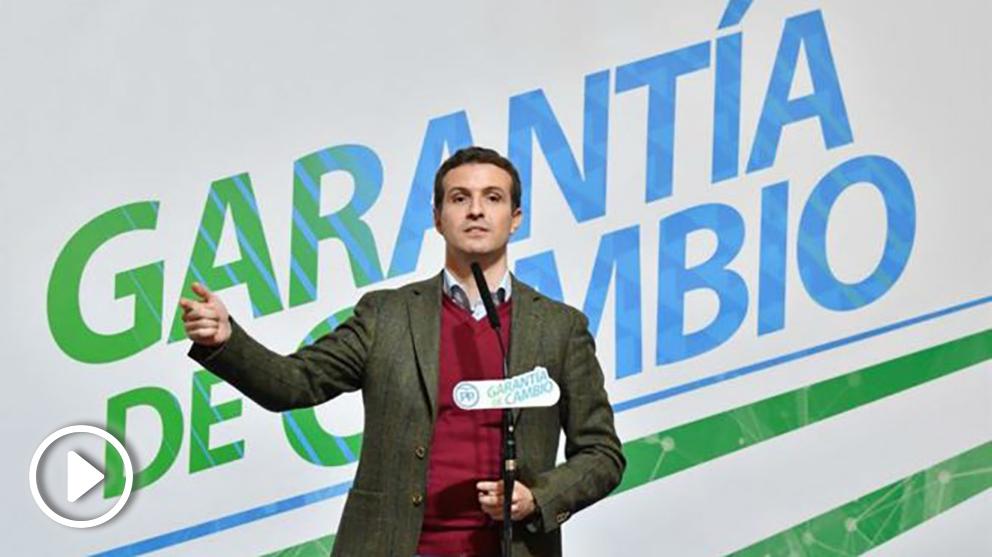 Pablo Casado este martes en Almería (EFE).