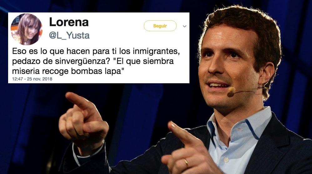 Pablo Casado y el tuit amenazante. (Foto. Populares)