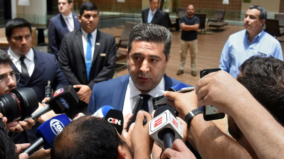 Daniel Angelici, presidente de Boca Juniors. (AFP)