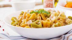 Receta de pasta con berenjenas y nata