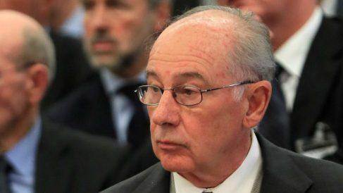 Rodrigo Rato, durante el juicio a Bankia