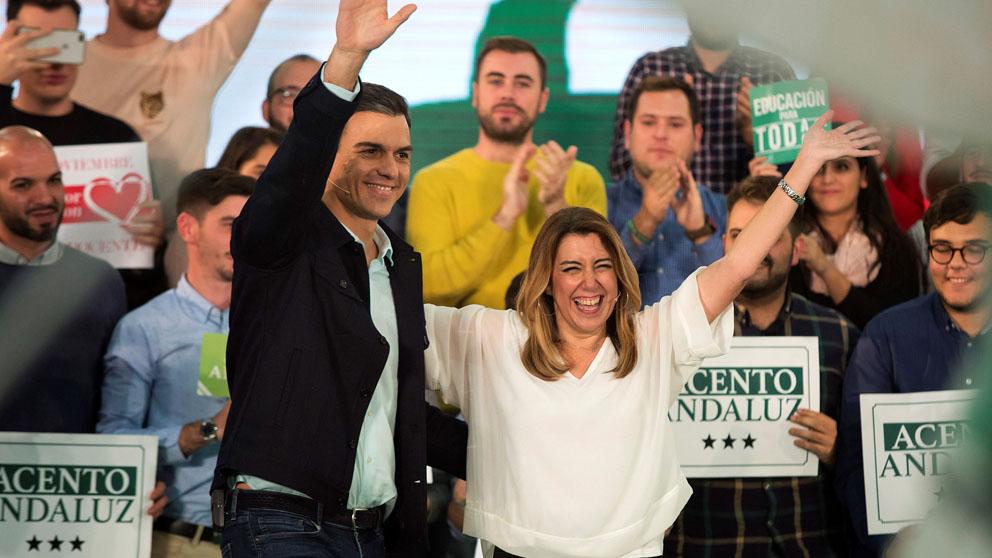 Pedro Sánchez y Susana Díaz (Foto: EFE)