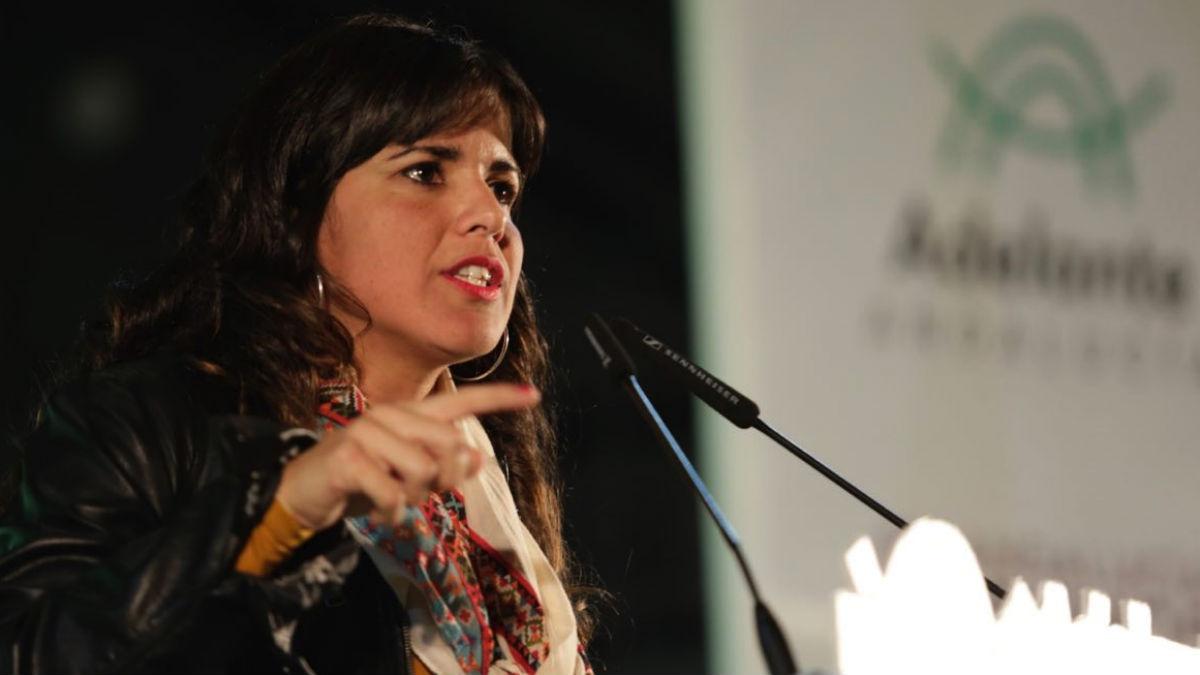 Teresa Rodríguez, candidata de 'Adelante Andalucía'.