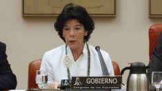 Isabel Celaá, ministra de Educación, este miércoles en el Congreso.