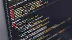 El codigo HTML en la pantalla de un ordenador.