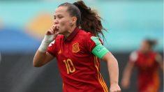 Claudia Pina celebra un gol. (EuropaPress)