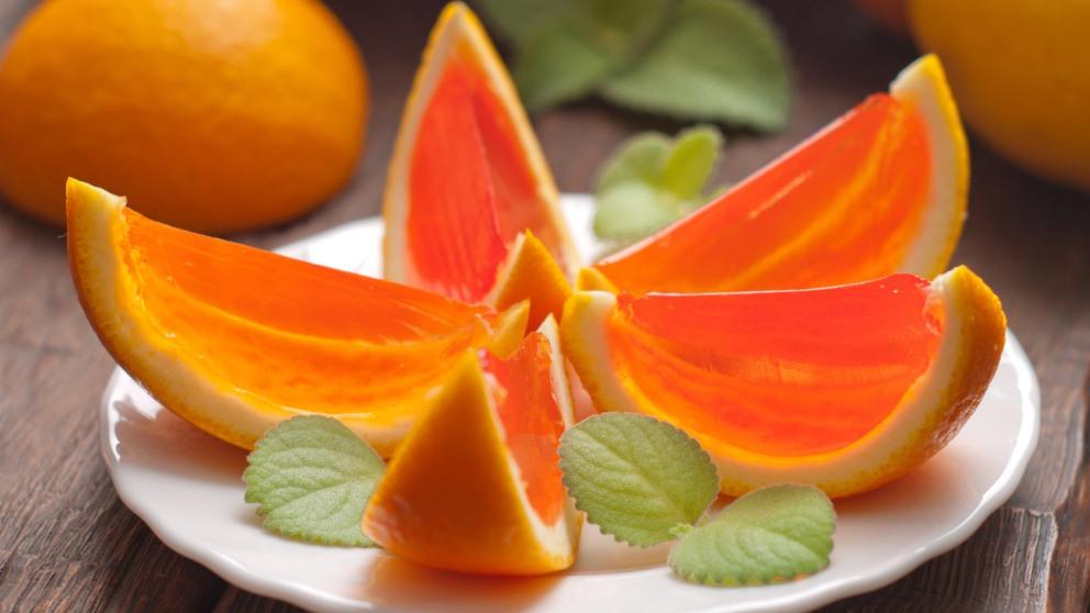 Receta de naranjas rellenas de gelatina