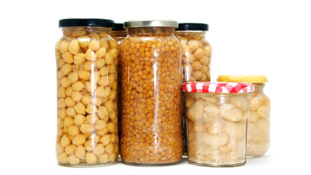 Las legumbres en conserva pueden llegar a duplicar su aporte calórico al organismo.