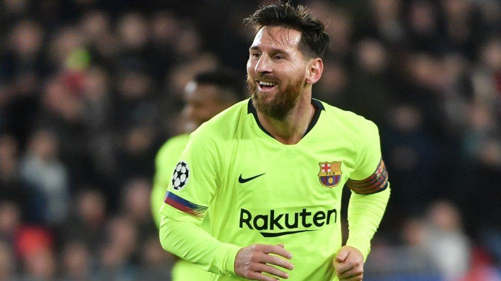 Messi, en el partido entre PSV y Barcelona. (AFP)