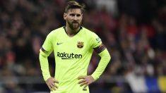 Messi, en un partido con el Barcelona. (AFP)