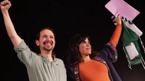 Pablo Iglesias y Teresa Rodríguez. (Foto. Adelante Andalucía)