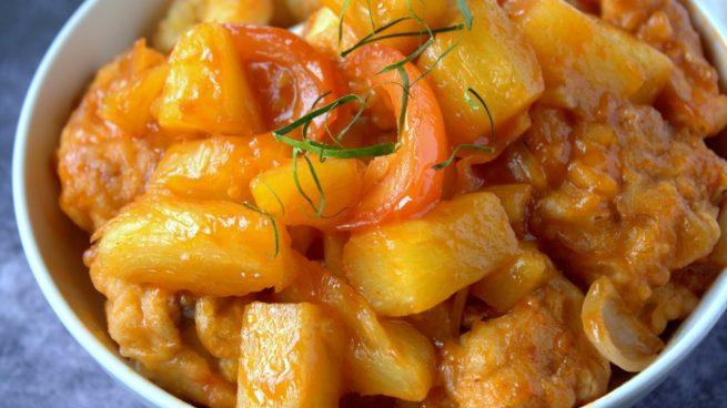 receta de pollo agridulce con piña