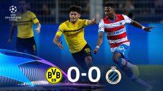 Dortmund y Brujas empataron a cero. (AFP)