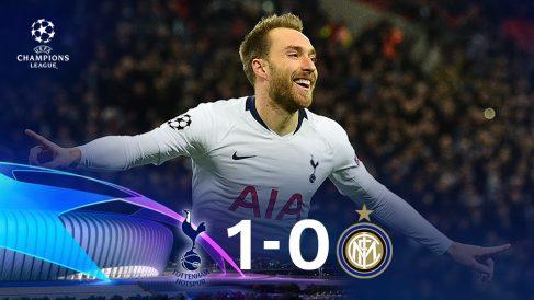 El Tottenham gana al Inter. (AFP)