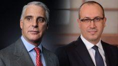 El CEO de Santander, Andrea Orcel, y el futuro CEO de BBVA, Onur Genç.