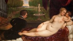 El cuadro del maestro Tiziano que acogerá el Museo de Navarra.
