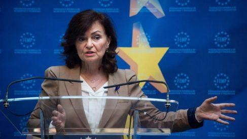 La vicepresidenta y ministra de Igualdad, Carmen Calvo (Foto: EFE).