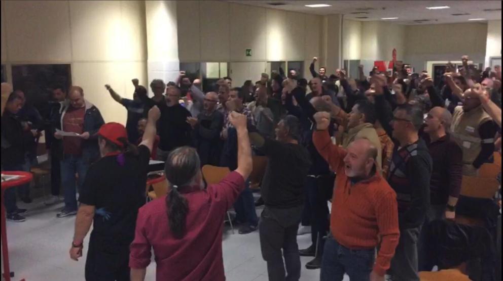 Sindicalistas de Coca-Cola celebran la victoria (Twitter:Coca-Cola en Lucha)